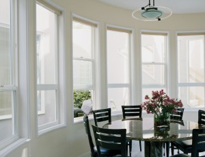 Stunning Earthwise single hung windows from Showcase Custom Vinyl Windows