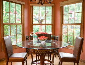 Showcase manufacturers beautiful woodgrain windows