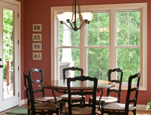 Earthwise double hung windows from Showcase accent this traditional dining room